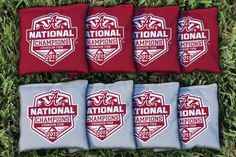 National Championship 2015 Alabama Crimson Tide Replacement Cornhole Bag Set  (corn-filled)