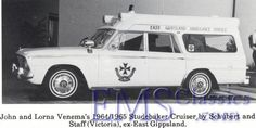 Check out this 1965 Studebaker ambulance made by a company in Victoria, Australia.