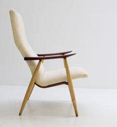 Ollie Borg; Birch and Teak Armchair for Asko, 1960s.