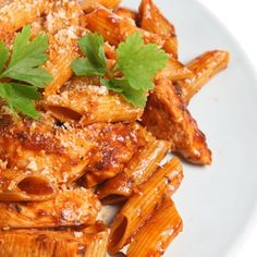 Skinny Turkey Rigatoni! Love adding ground turkey to my pasta recipes for a full flavor taste!