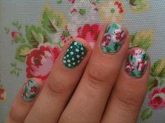 floral nail tutorial
