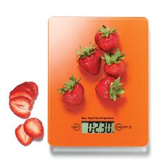 "Digital #FoodScale, new at www.deannasbeautyshop.com. Light and portable scale measures in ounces, pounds and grams. Weighs up to 11 lbs. Uses button-cell batteries (included). Wipe clean. Approx. 6 3/4"" sq. Glass, plastic. Imported. #kitchen #diet"