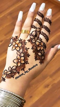 for more interesting pins Henna Hand Designs, Eid Mehndi Designs, Henna Tattoo Designs, Mehndi Designs Finger, Modern Henna Designs, Indian Henna Designs, Latest Henna Designs, Floral Henna Designs, Mehndi Designs For Beginners