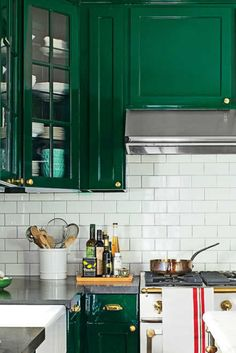 Find green kitchenaid mixeronly on this page Green Cabinets, Kitchen Cabinets, Green Kitchen, Kitchenaid, Beautiful Kitchens, Kitchen Inspiration, Ideas, Home Decor, Decoration Home