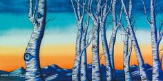 Indigo Aspens - Surreal Landscape Art by Mizu - Denver Colorado by mizuarts on Etsy https://www.etsy.com/listing/461618140/indigo-aspens-surreal-landscape-art-by