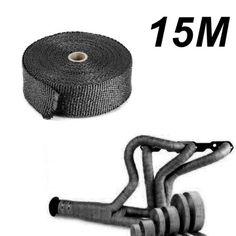 15m-Titan-Hitzeschutzband-Auspuff-Band-bis-1400-Hitzeschutz-Kruemmer-Schwarz