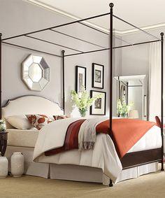 Look at this #zulilyfind! Oleander Canopy Queen Bed Frame by HomeBelle #zulilyfinds