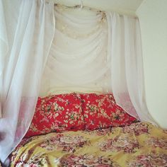 DIY Canopy Headboard for a dorm bed that needs to pass all regulations!