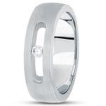 A men's tension set diamond engagement ring