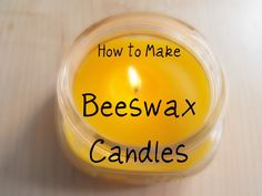 Kanelstrand: Weekend DIY: How to Make Beeswax Candles