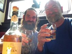 Duncan and Graham at the local pub for the second Scotch Talk