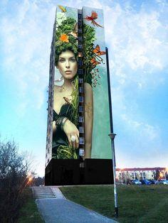 """Natura"" Artist: Graffikon Location: Poznan, Poland"