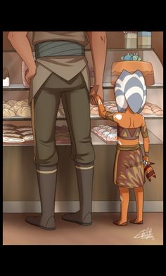 In my head the man with the little ahsoka is a clone ❤