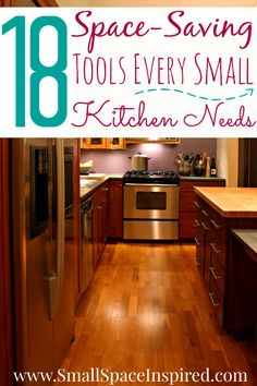 18 Space-Saving Kitchen Tools to Organize a Small Kitchen Kitchen And Bath, New Kitchen, Kitchen Decor, Kitchen Ideas, Narrow Kitchen, Kitchen Layout, Cozy Kitchen, Kitchen Small, Kitchen Things