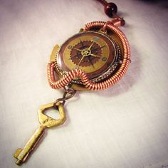A personal favorite from my Etsy shop https://www.etsy.com/listing/269163692/steampunk-compass-necklace-watchpart
