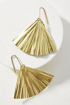 Ginkgo Leaf Drop Earrings