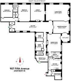 Apartment 8E at 907 Fifth Avenue, New York.