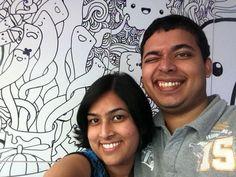 #plogyourworld #ScoopofArt #couple #smiles #happiness #backdrop #background #art #life #live #moments #memories #wink #fun