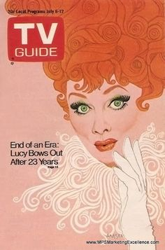 vintage TV Guide. Lucille Ball.....she was so crazy....loved her...