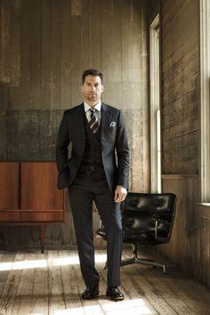 J. Hilburn three piece suit.
