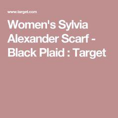 Women's Sylvia Alexander Scarf - Black Plaid : Target