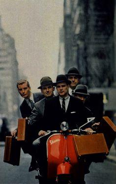Vespa Commuting - only on Broadway...  #ridecolorfully, #katespadeny and #vespa