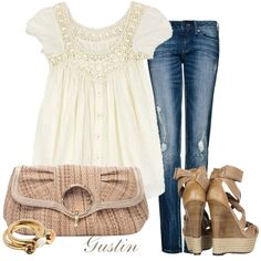 cream lace, created by #gustinz on #polyvore. #fashion #style #Alloy #Mango