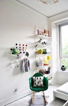 White  Bright #Kid's #Room T#finelittleday cushion #eames #hangitall