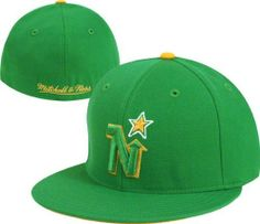 new concept cf93e 1ff1f Mitchell  amp  Ness Minnesota North Stars Vintage Fitted Hat 7 7 8 by  Mitchell
