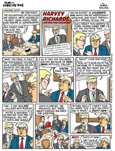 Cartoon: Trump's new lawyer: Harvey Richards, Lawyer for Children - Tom the Dancing Bug by @RubenBolling on Twitter and Face Book