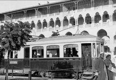ترام في شارع بغداد في مصر الجديده عام ١٩١٥