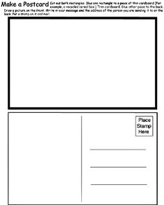 This Page Has Three Free Postcard Templates To Choose From In