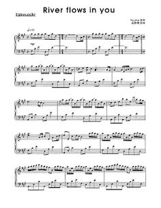 Horsegirl15 Sheet Music and Notes: River Flows In You Sheet Music