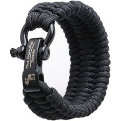 Amazon.com: The Friendly Swede (TM) Trilobite Extra Beefy / Wide 500 lb Paracord Survival Bracelet With Stainless Steel Black Bow Shackle - Adjustable Size Fits 7-8 Inch Wrists - In Retail Packaging - Lifetime Warranty (Black): Sports & Outdoors