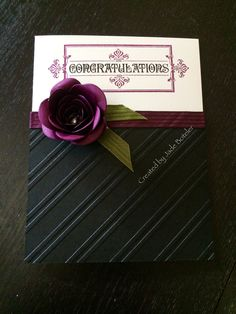 Congratulations with a little sophistication  By Jade Boteler