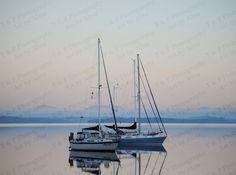 Sailing photo sailboat photo nautical ocean by Turtlesandpeace