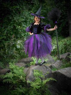 Dark Witch Costume - Halloween Gothic Lace Witch Tutu Dress by Ella Dynae, $190.00