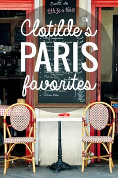A handy map of Clotilde's Paris Favorites: find out which restaurants and food shops French food writer Clotilde Dusoulier likes best!