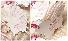 Butterfly wedding menu by Atelier Violet
