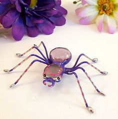 Medium Purple Spider Painted by SpiderwoodHollow on Etsy, $9.00