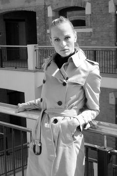 Jana photographed in Venice  for Burberry's Art of the Trench