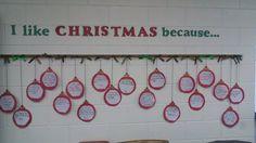 I Like Christmas Because- Christmas writing lesson for elementary, Christmas art lesson for elementary, and Christmas bulletin board xmas writing – TeacherTime123