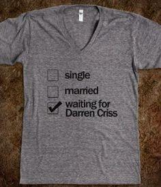 Waiting for Darren Criss