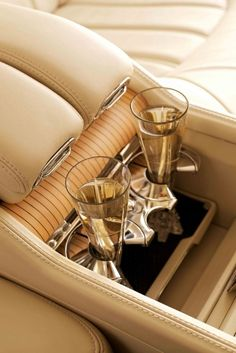 There are so many time I'm driving in my car and thinking if only I had a place to put my champagne glasses while I drive.  This must be how the really rich drink and drive.