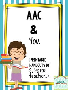Having an alternative augmentative communication (AAC) user can be overwhelming for a classroom teacher, but it doesn't have to be! This download contains 3 no-prep handouts that cover the following areas:-Basic AAC introduction-Integration tips & tricks-TerminologyEach handout is 2 pages and can be printed front and back for paper saving!