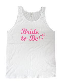 www.BridesmaidTank.com Drinking, Tank Man, Bride, Tank Tops, Men, Fashion, Drinks, Moda, Drink
