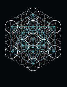 Δ✡~Cubo de Metatron ~✡Δ  Δ✡~Geometría Sagrada~✡Δ  Sacred Geometry - Metatron's Cube