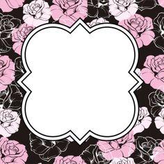 Soft pink flowers #freelabel #labeldesign #eveiolabel #owndesign #girlylabel #vintagelabel #cutelabel #blackandpink #cutelabel
