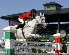 Nicolas Pizarro (Mexico) and Crossing Jordan clear a fence at the 2010 Alltech FEI World Equestrian Games