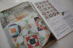 Quilty July - August issue - my Ferris Wheel quilt on page 14  - Elizabeth Dackson at dontcallmebetsy